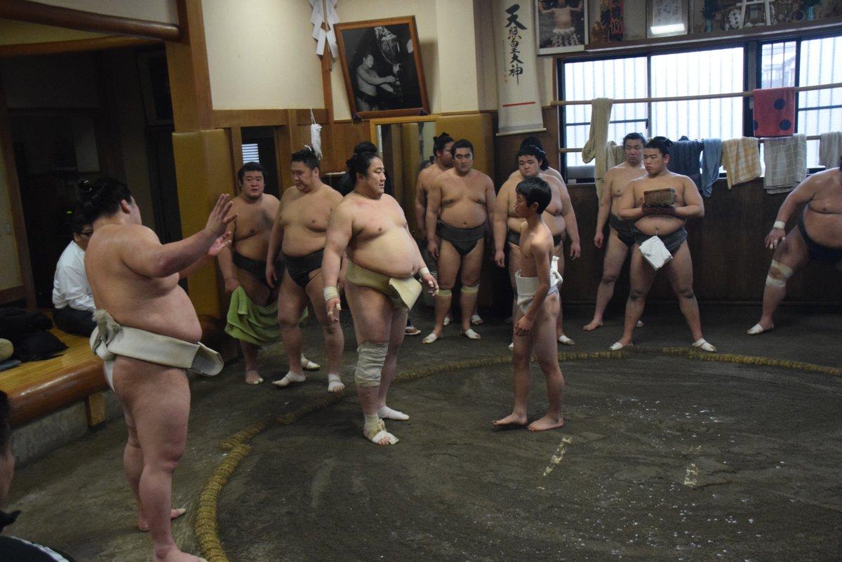 test ツイッターメディア - <JFAアカデミー福島相撲部屋実習@境川部屋> 体の使い方を指導する大関豪栄道。 アカデミー生に胸を出す妙義龍、佐田の海。 #sumo #相撲 #jfa https://t.co/lDsZB9bl6l