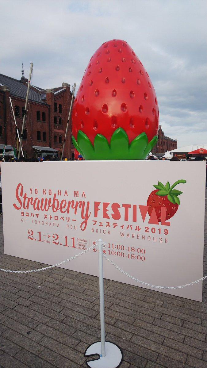 test ツイッターメディア - 「ヨコハマストロベリーフェスティバル」行ってきました。 いただいたのは、馬車道十番館さんの 「とちおとめのまーるいショートケーキ」と ガトーよこはまさんの「いちご杏仁」です。 昨年も行きましたが、今年も大満足です。 赤レンガ倉庫にて、明日まで開催です。 https://t.co/MkYIUw9L0b