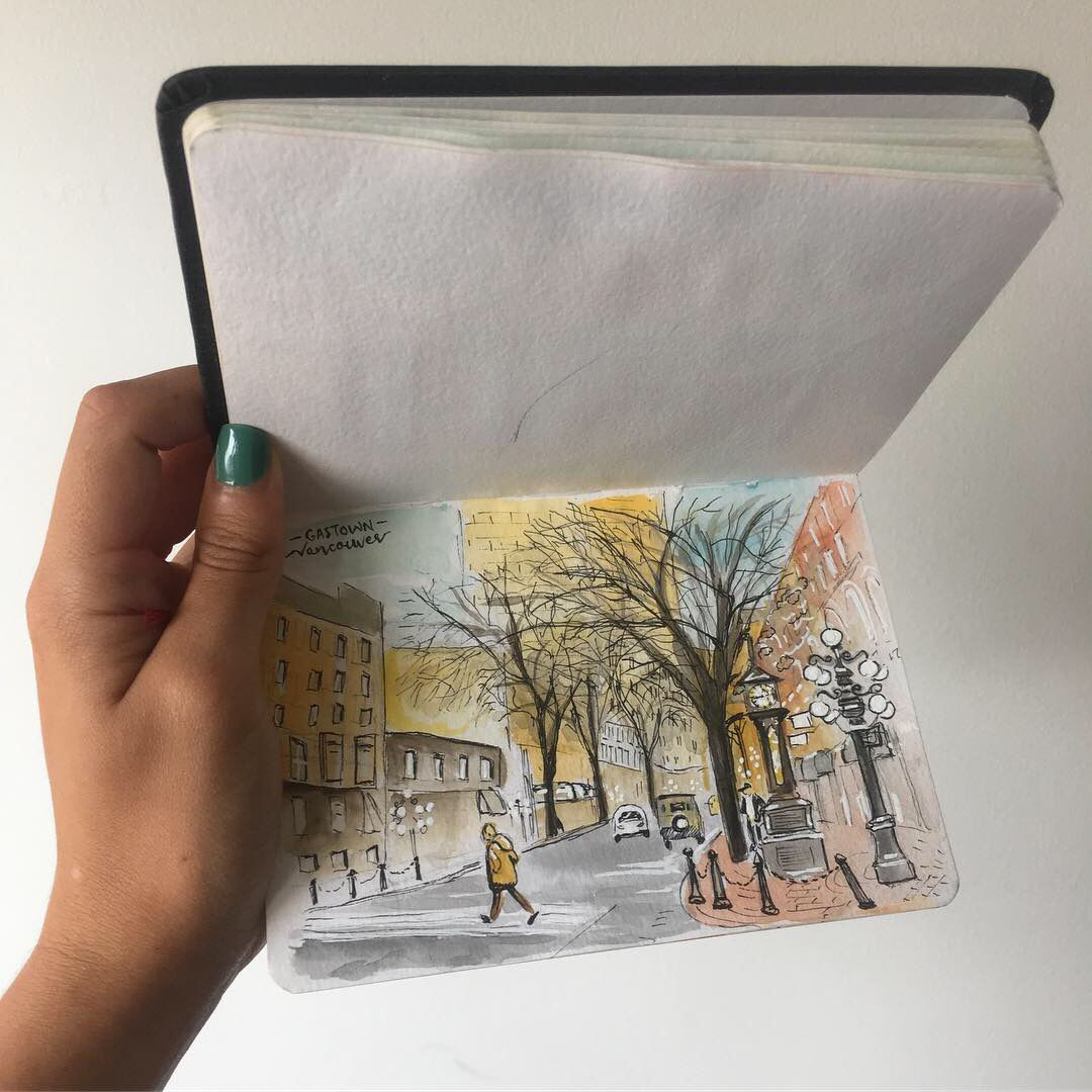 Loved looking into this artist's sketch book on a chilly Sunday morning.  https://t.co/06lSZrvQZV https://t.co/pnCnMND1Y0