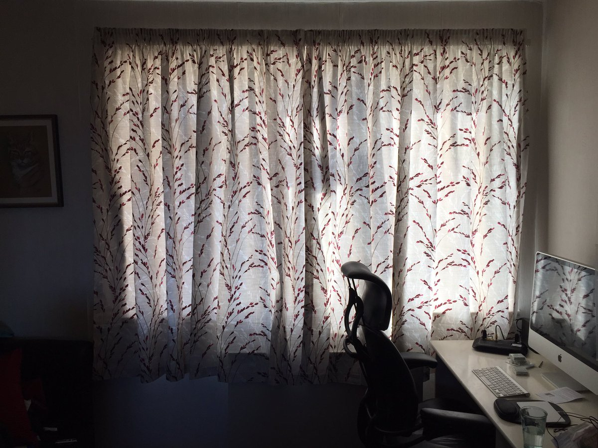 Happy New Curtains Day.  Buying curtains is worse than choosing clothes!