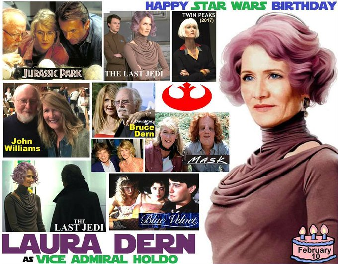 Happy birthday Laura Dern, born February 10, 1967.