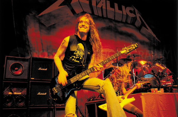 Happy Birthday Cliff Burton!!  Photo from Chicago\s on May 25, 1986!!
