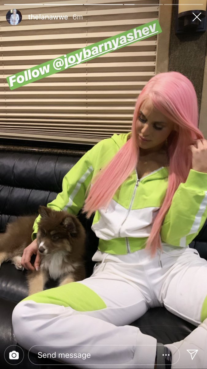 RT @peytnroyce: your pink hair really looks so good u better keep it @LanaWWE https://t.co/J4yKoD3gzo