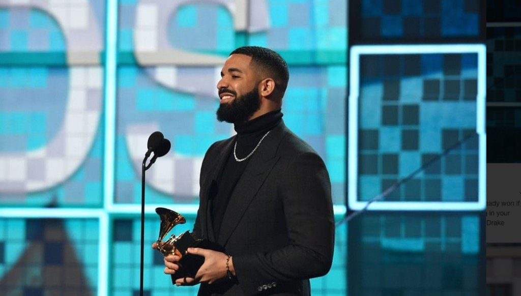 RT @thisis50: Drake's mic gets cut off during his Grammy acceptance speech https://t.co/ipwKDo6ect https://t.co/RvsQ75YOw0