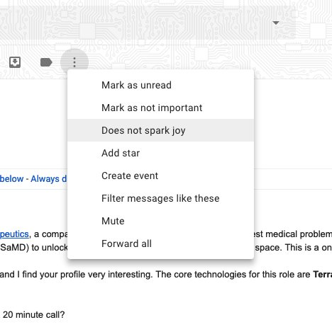RT @EricaJoy: gmail needs a new option for categorizing emails https://t.co/aeYhTPcxy3