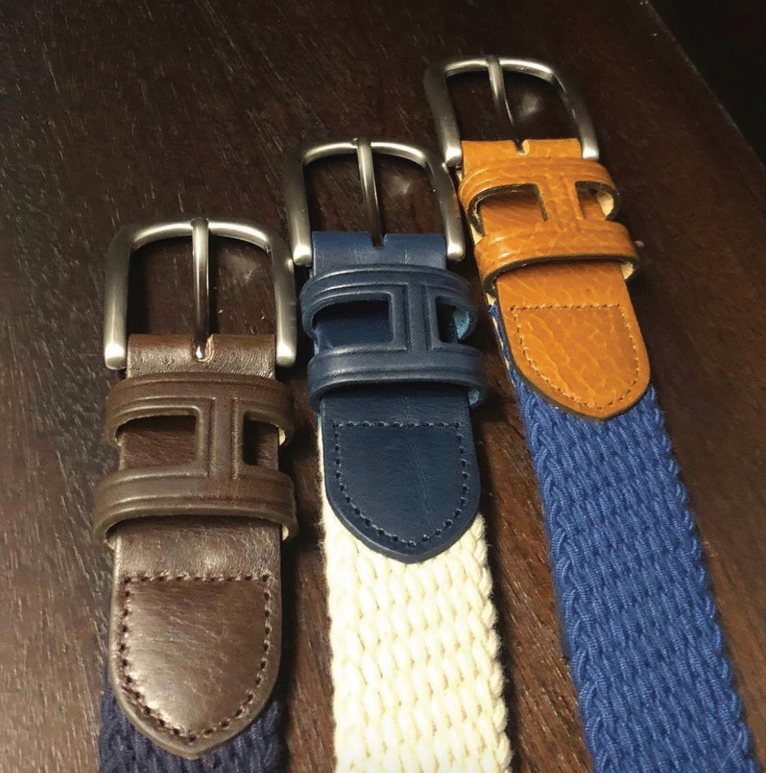 Meet the woven and leather belt, made from parachute string for extra durability. #Hackett #Belt #Leather https://t.co/iHNTgDh3ay