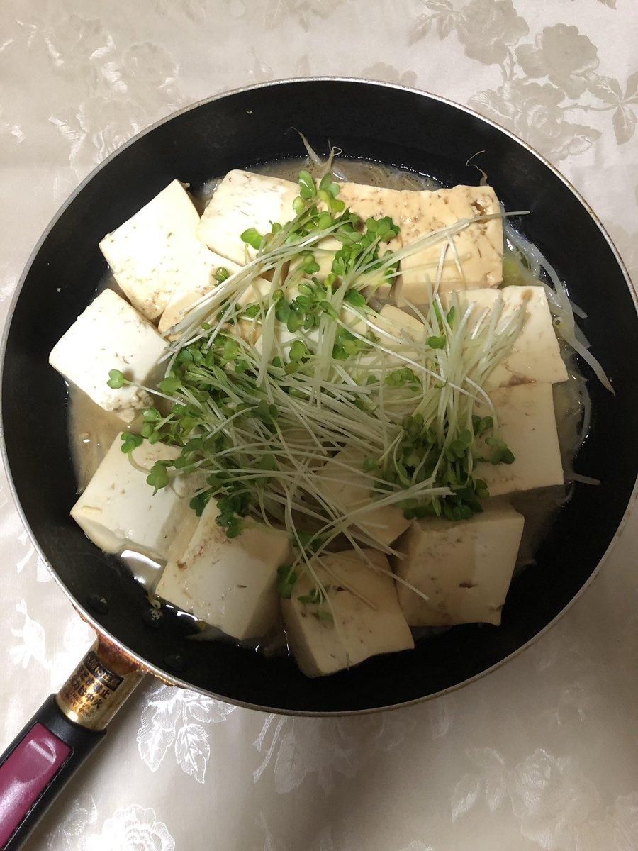 test ツイッターメディア - 今日のおうち居酒屋🏮は、かいわれともやしの豆腐ステーキ、かいわれと数の子わさび入りカツオのたたき、もずく入りの納豆。飲み物は、新潟清酒🍶 越乃雪です。 https://t.co/z7Nj0nX0gj