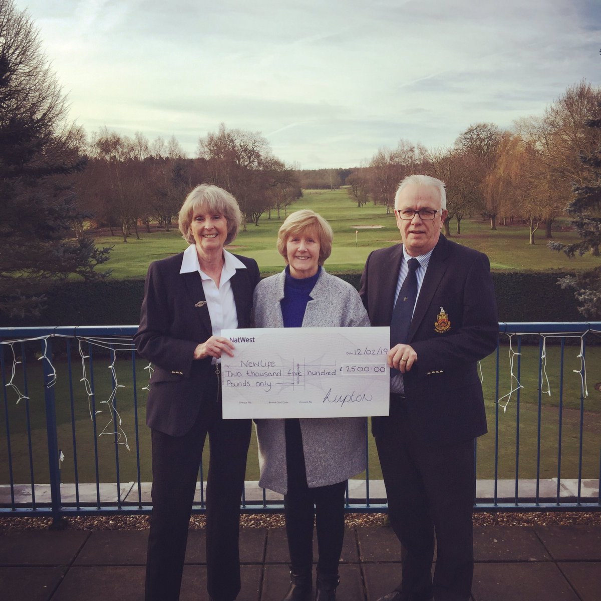 test Twitter Media - Mel Jones and Kate Robson (2018 Presidents) presenting a cheque to their chosen charity @Newlifecharity  Fantastic fundraising for a fantastic charity! Well done!  #charity #golfclub @MidlandsGolfer @EnglandGolf @staffsgolf @ThePGA @staffsgolfclubs @IPGCourseupdate https://t.co/aIohFdJRUv