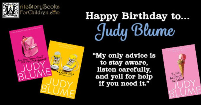 We\re wishing a very happy birthday to Judy Blume, reining queen of teenage coming-of-age