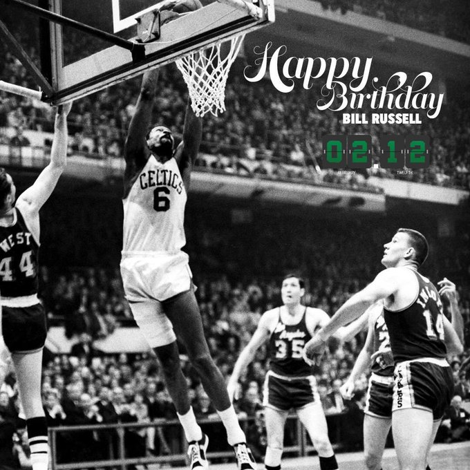 Happy Birthday to the legend Bill Russell!