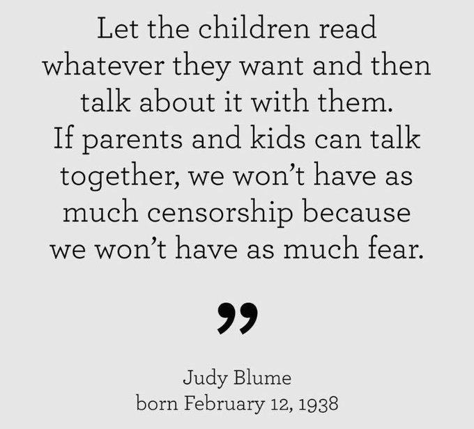 Happy Birthday Judy Blume!!