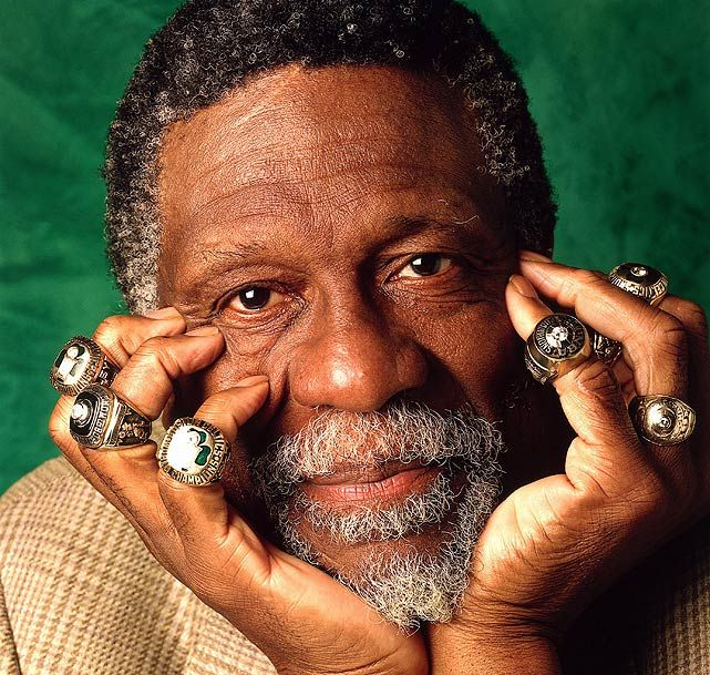 Happy birthday to American heroes/Celtics legends Bill Russell & Gucci Mane.