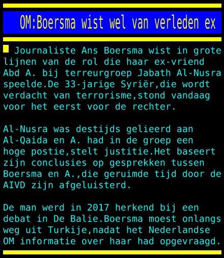test Twitter Media - OM:Boersma wist wel van verleden ex https://t.co/baPWWYXrRV