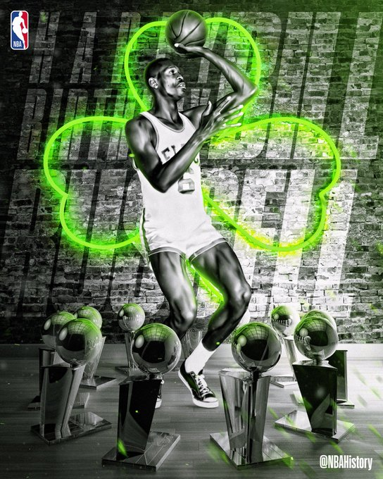 Happy Birthday 11x champ Bill Russell! Artwork for the