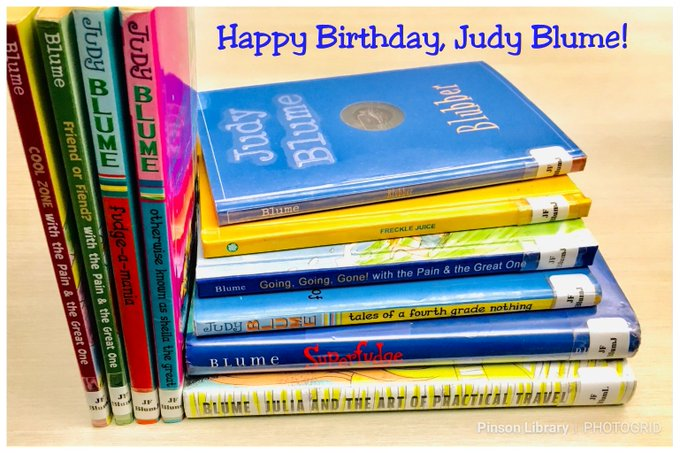 Happy Birthday, What\s your fave Judy Blume book?
