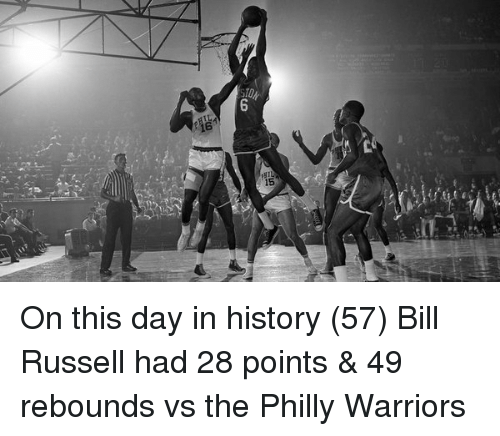 Happy birthday Bill Russell. Russell was always known for gutting Philly cunts