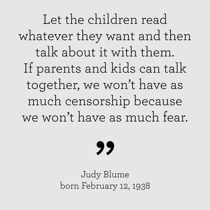 Happy Birthday Judy Blume! I loved her books as a kid!