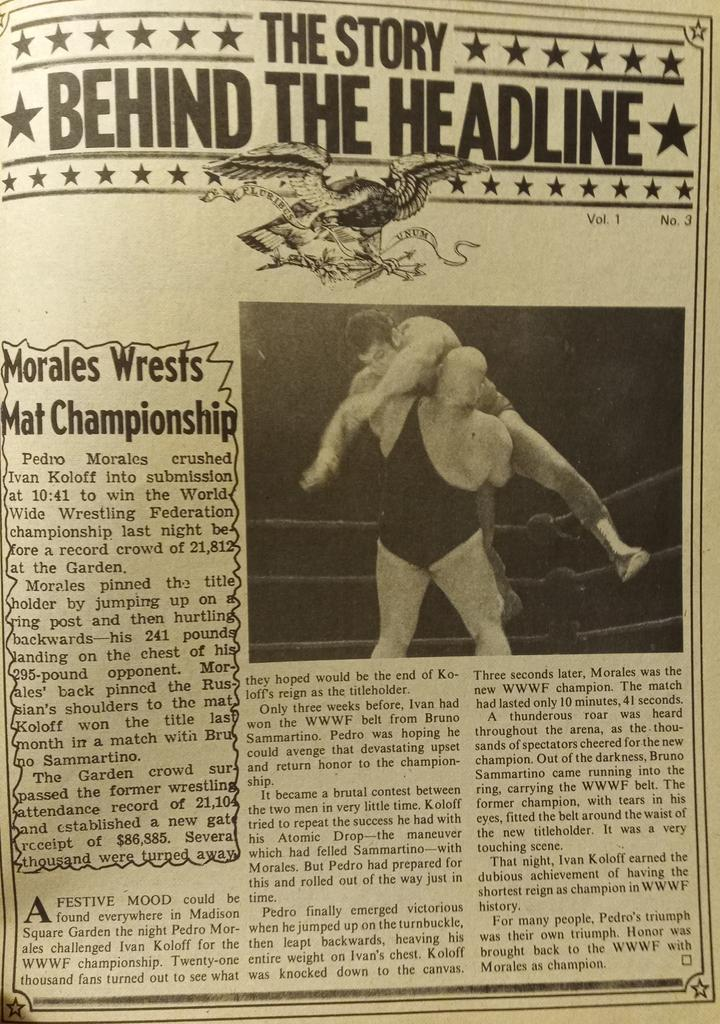 RT @WrestlingIsKing: An article on Pedro Morales' WWWF World Heavyweight Championship win over Ivan Koloff https://t.co/ggc9hhWyL5