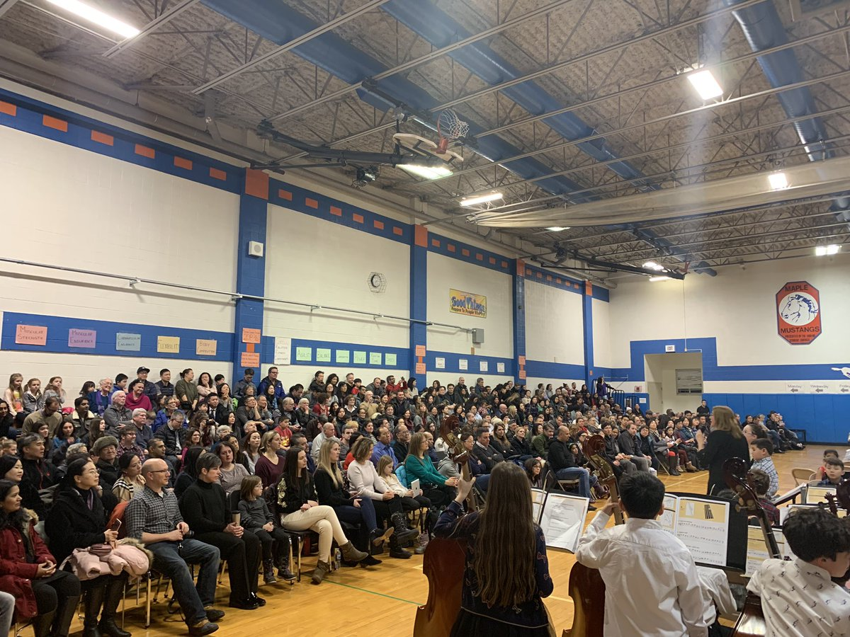 test Twitter Media - Standing room only at the elementary band and orchestra concert!  Congratulations on a wonderful concert! #d30learns https://t.co/esyD3VPt9m