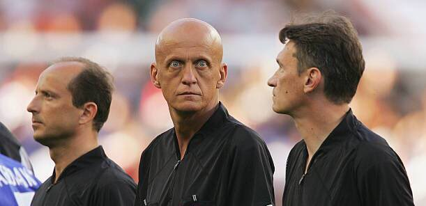 That Stare. Happy Birthday Pierluigi Collina.