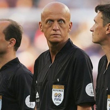Happy 59th Birthday to legendary no nonsense referee Pierluigi Collina - you wouldn\t want to get on his bad side