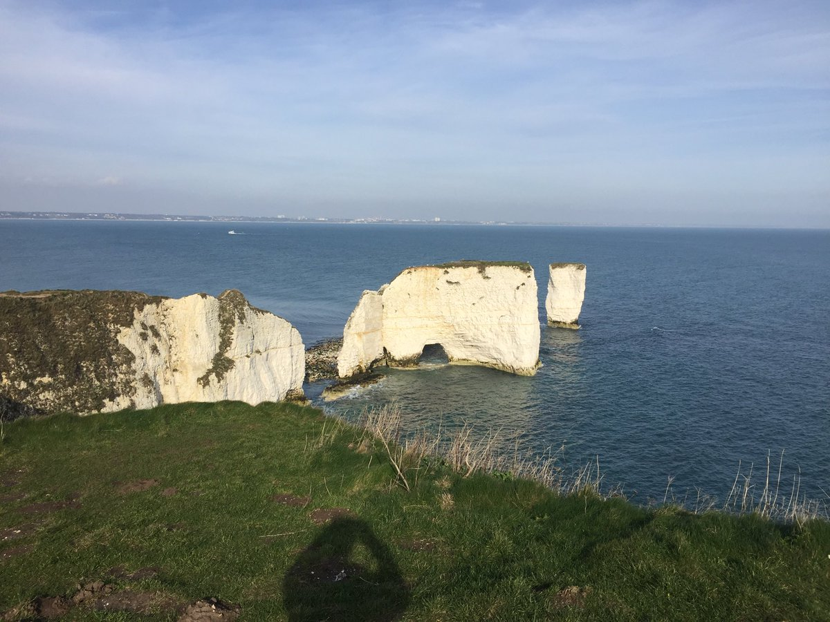 test Twitter Media - I'm out walking today with my friend Fr Anthony Barratt. We've just reached Old Harry Rocks in Studland - a fine sight to thank God for. https://t.co/p1McGYG3eh