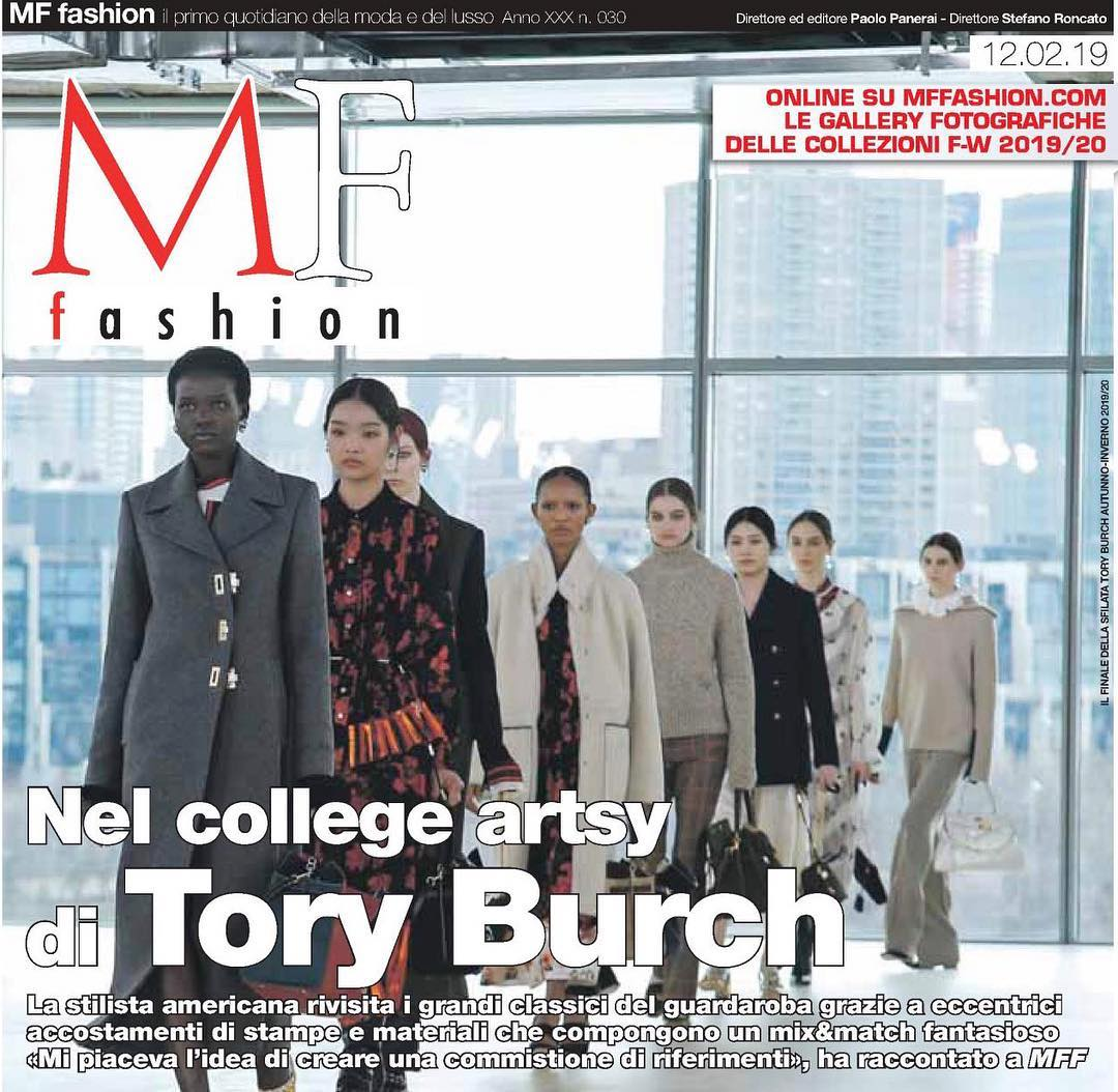 Thank you MFF @mffashion_com for the beautiful cover #ToryBurchFW19 #ToryEditorials https://t.co/MMzdBXOeBn
