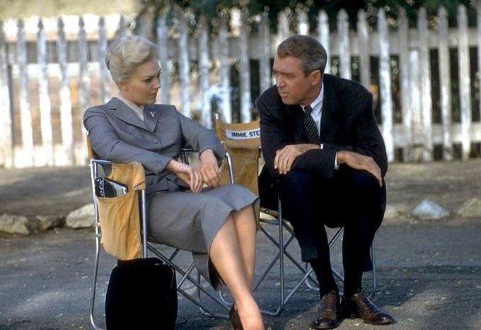 Happy birthday to Kim Novak! Seen here on the set of VERTIGO (1958).