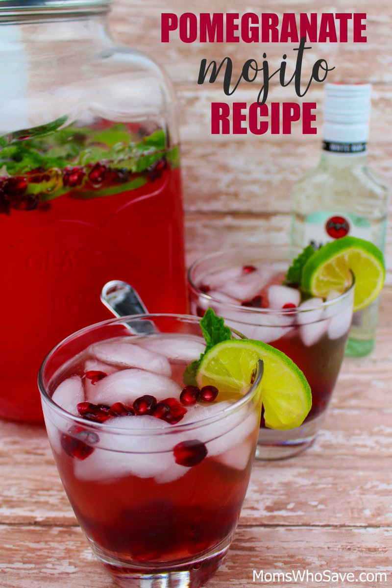 RT @MomsWhoSave: Try These Delicious Pomegranate Mojitos  >>    #cocktails #recipes