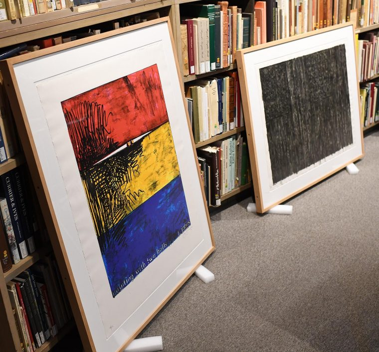 "test Twitter Media - Artist Jasper Johns donated 23 of his prints to the Davison Art Center last year in honor of DAC curator Richard ""Dick"" Field, curator from '72-'79. Prior to this, Field P'09 hadn't seen Johns's work, 'Corpse and Mirror', in 40+ years. More info: https://t.co/a6qLN7xZ5E @WesCFA https://t.co/mw7UaCcHNM"