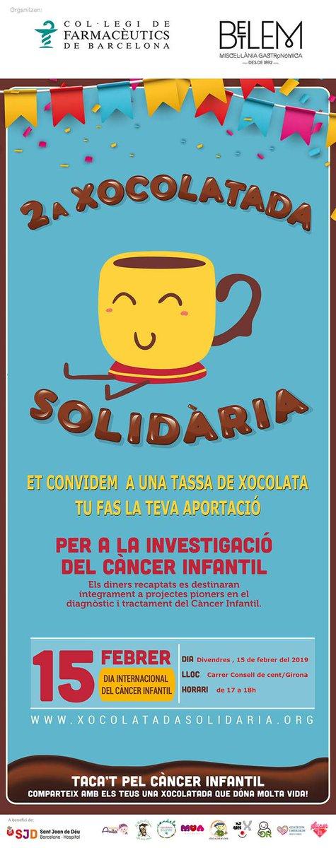 test Twitter Media - ❗️Taca't pel càncer infantil Comparteix amb els teus una xocolatada que dona molta vida! 2a #XocolatadaSolidària a benefici de @SJDbarcelona_es  Et convidem a una tassa de xocolata.🥣🍫 i tu fas la teva aportació 💶😉 📍On? Consell de Cent/Girona 🗓️Quan? Divendres 15/2. 17-18 h. https://t.co/IuBbrg7QT5