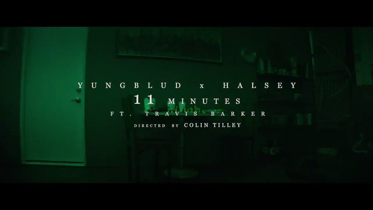 RT @halsey: 11 minutes. Video. Feb 21st.  ⌚️@yungblud @travisbarker https://t.co/0kBMfYZPaM