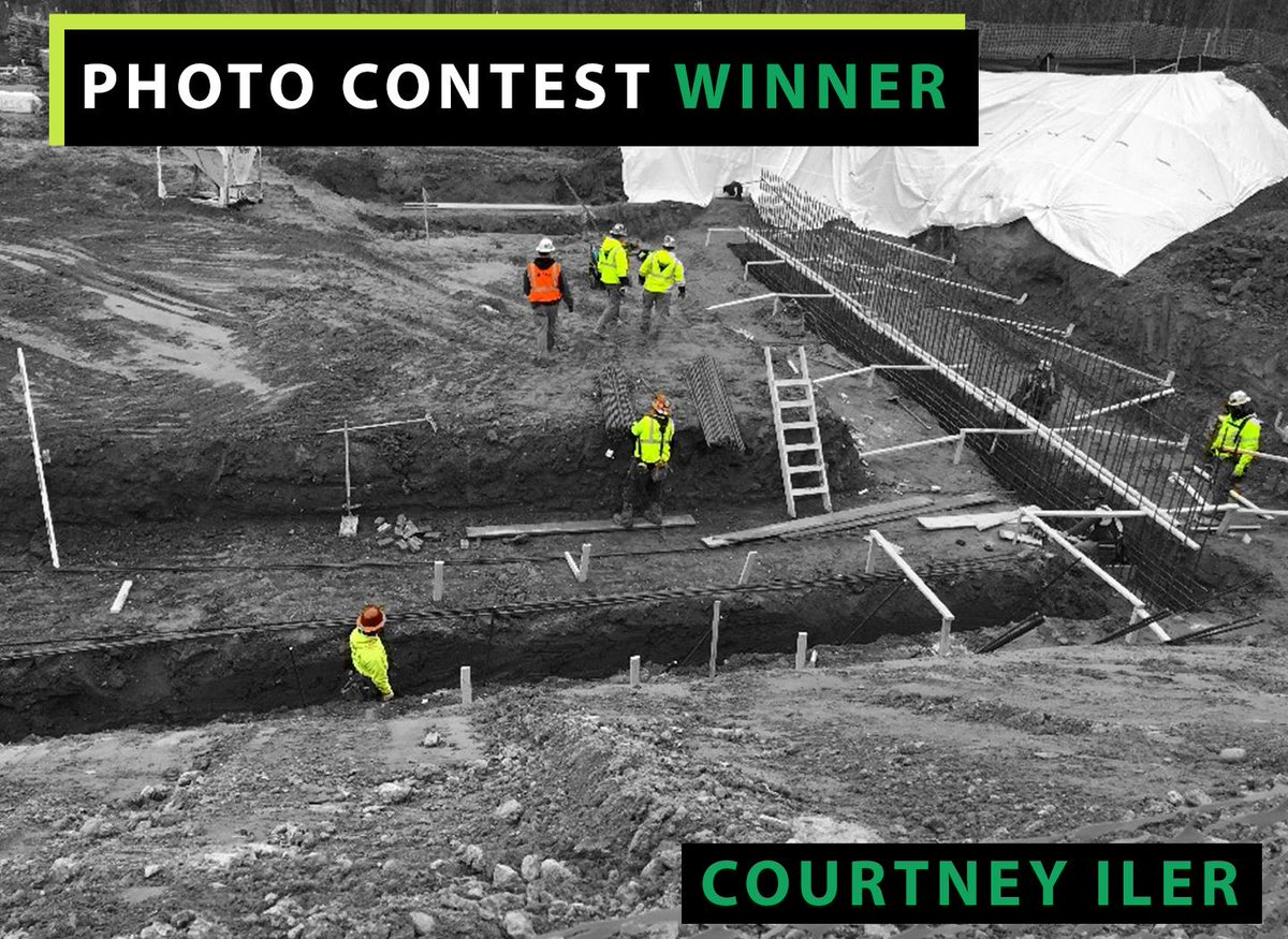 test Twitter Media - Project Engineer, Courtney Iler, captured the Ideal team tying rebar for foundations. #PhotoContest https://t.co/GZWY8RtkS0