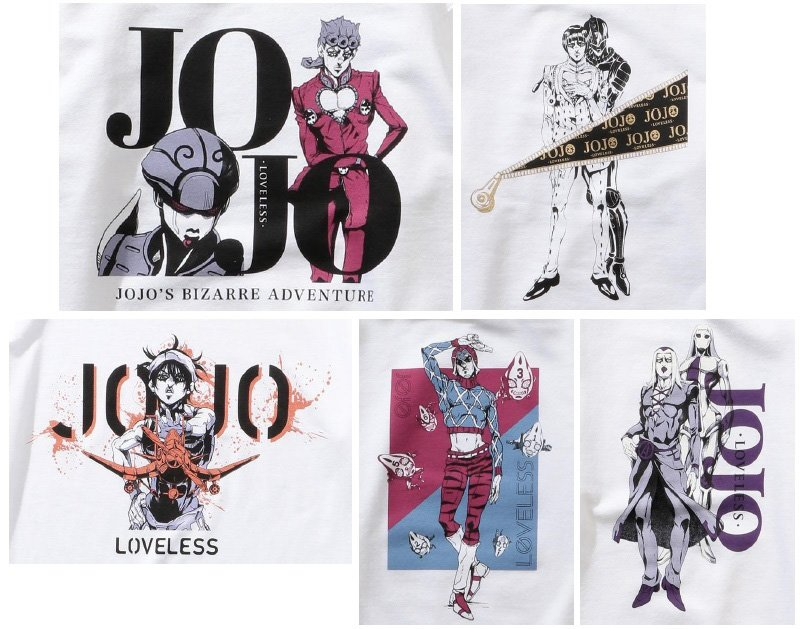 RT @fashionsnap: ラブレスがジョジョとコラボ。「ジョジョの奇妙な冒険 黄金の風」に登場するナランチャ・ギルガやジョルノ・ジョバァーナら5人をデザインに採用 https://t.co/GkCdTPJdBF https://t.co/CEQvUejZg8