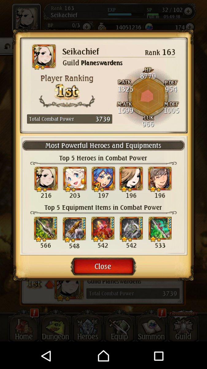 test ツイッターメディア - Combat Power Ranking1位 =(Prayer Ranking1位)  最初で最後の記念に♪♪ 私がブレアカの王です笑 https://t.co/Op6F9SDFO2