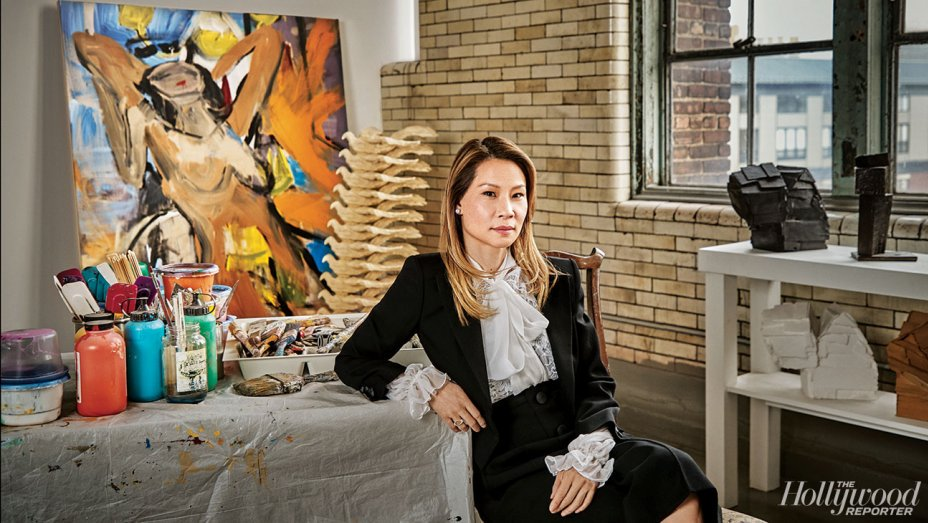 """Inside @LucyLiu's art studio and exploring """"what we choose not to see"""""""