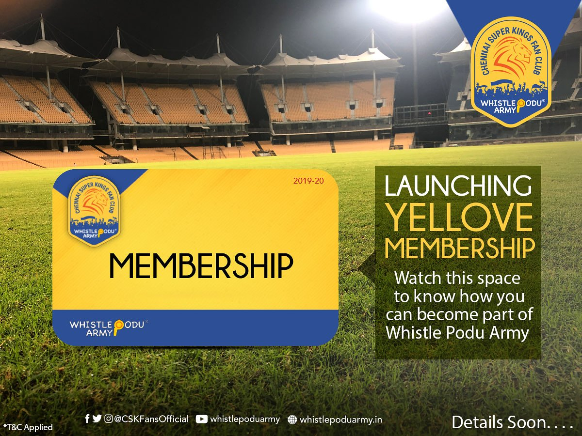📣 Super Announcement!💛🦁 We are launching membership in next 3 days.  Tag your friend who would Love to become a Proud Member of WhistlePodu Army👇  #WhistlePoduArmy #WhistlePodu