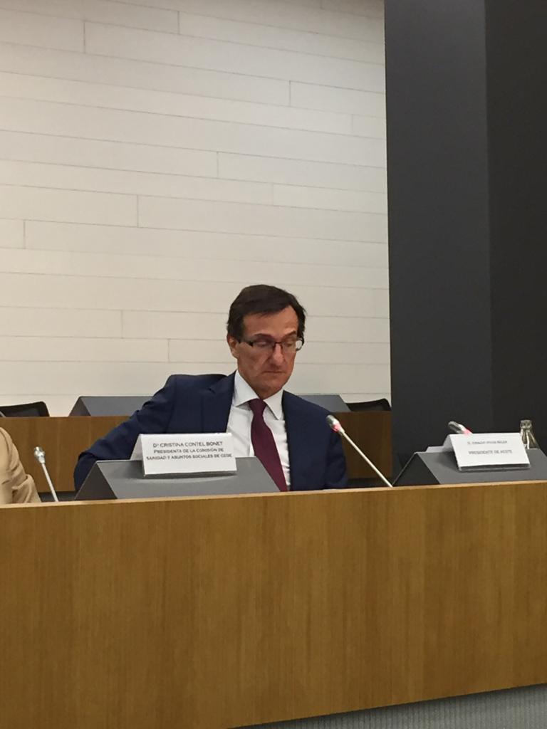 """test Twitter Media - """"La Teleasistencia y la Ayuda a Domicilio son vitales para el futuro del sector."""" Nacho Vivas en la presentación del informe de propuestas de dependencia de AESTE en la sede de @CEOE_ES   #PersonasMayores #Geriatría #AESTEcuida #AESTEinforma https://t.co/I73H5PE5oF"""