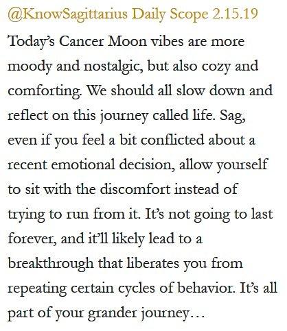 Daily Horoscope for #Sagittarius 2.15.19 ♐️❤️✨ #Horoscope #Astrology #TeamSagittarius #KnowTheZodiac https://t.co/AO27ZxUo2F