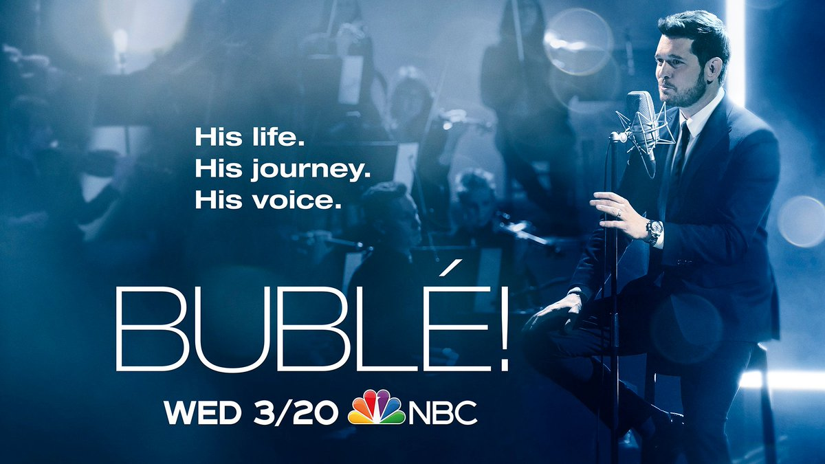 RT @MichaelBuble: Tune in for Michael's new music special -- March 20 on @NBC! https://t.co/8tipRFLPz5