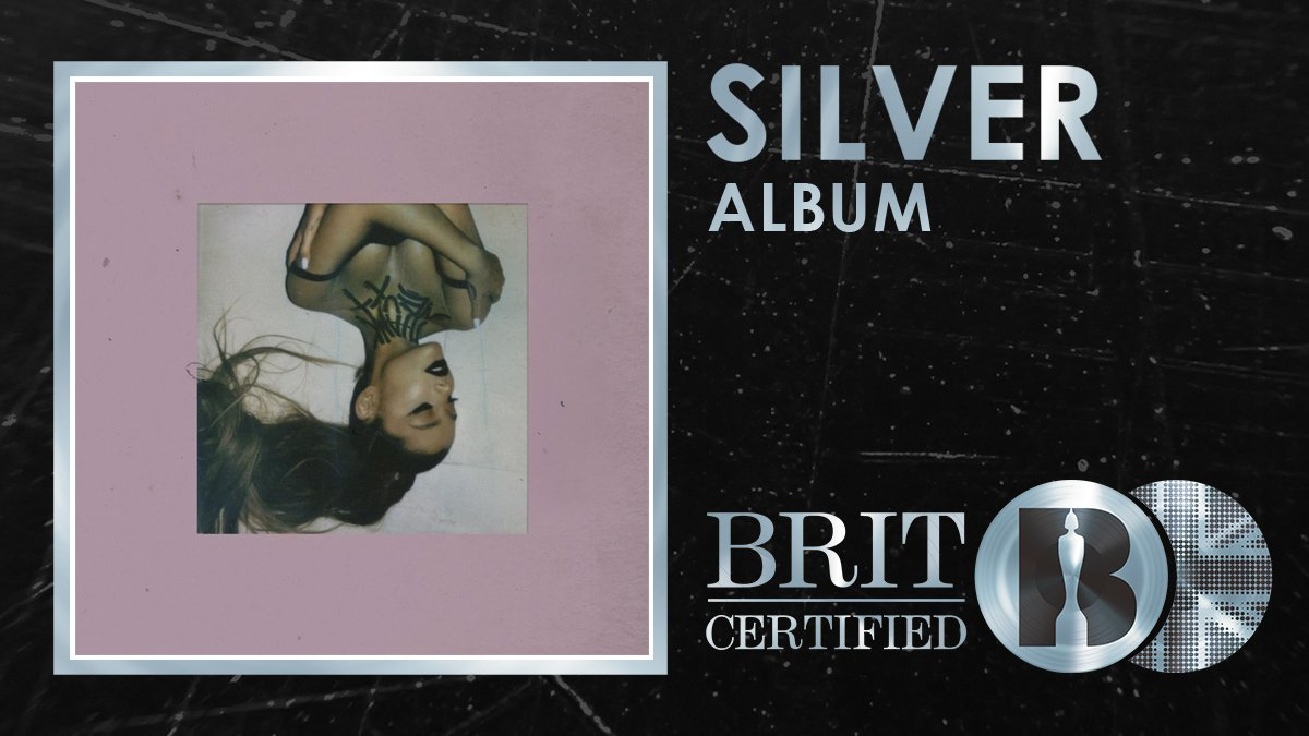 RT @BRITs: 😍 In just 1⃣ week, @ArianaGrande's stellar new album 'thank u, next' has been #BRITcertified Silver! 🇬🇧💿...
