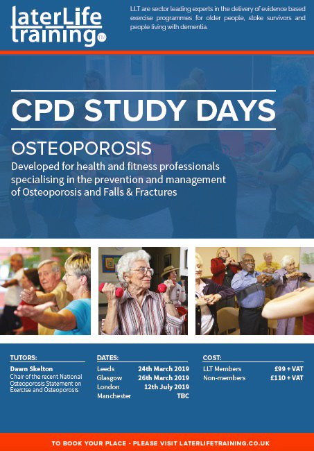test Twitter Media - CPD day on Exercise and Osteoporosis - Leeds 24th March. See you there? @NHSLeedsWest @NHSLeedsNorth @NHSLeedsSE @leedshealth @ActiveLeeds https://t.co/VcJFTArWCW