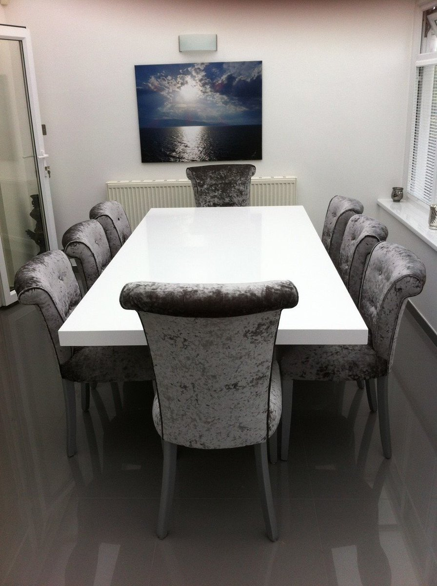 test Twitter Media - Beautiful white Silestone Zeus Quartz table, complemented with our own Anabelle dining chairs, all manufactured in Osborne & Little fabric. Absolutely stunning. https://t.co/rnCBtxR0pA