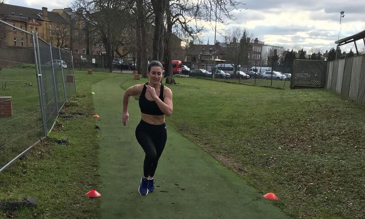 She's back! @TheRealKirstyG's feeling better and back on track for marathon training week