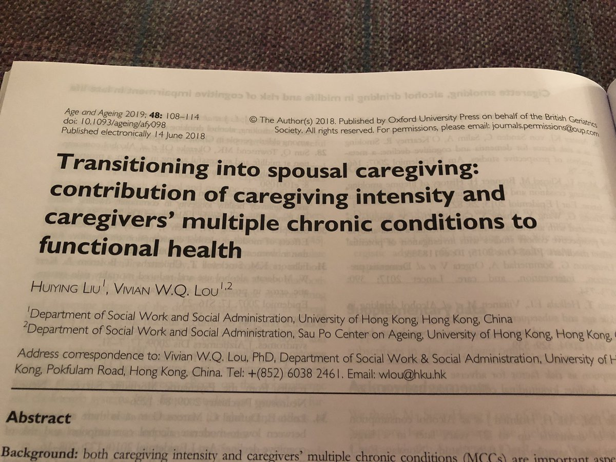 test Twitter Media - Caregivers own function declines rapidly with high intensity care giving, and their multiple med conditions get worse. We must address and support. Life transitions important to older people @jfsf https://t.co/637G3BFDwQ @Ageing_Better @TheCarerUK @CarersUK @CarersTrust @GeriSoc https://t.co/Jrbdps1n13