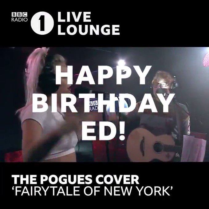 Happy Birthday, Ed Sheeran! Big love for ALLLLL your Live Lounge covers