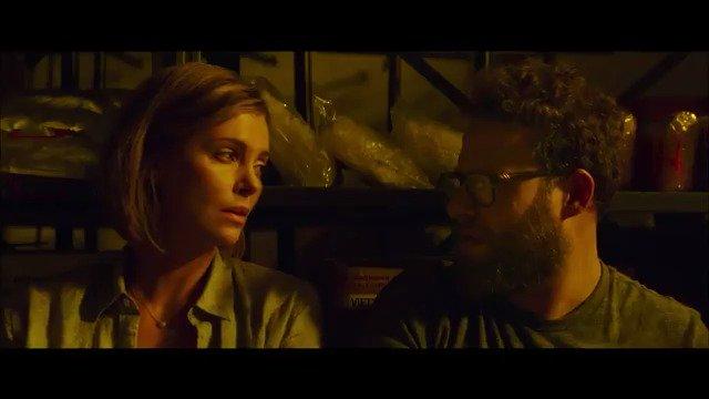 .@Sethrogen and @CharlizeAfrica get political in LongShot trailer. Watch: