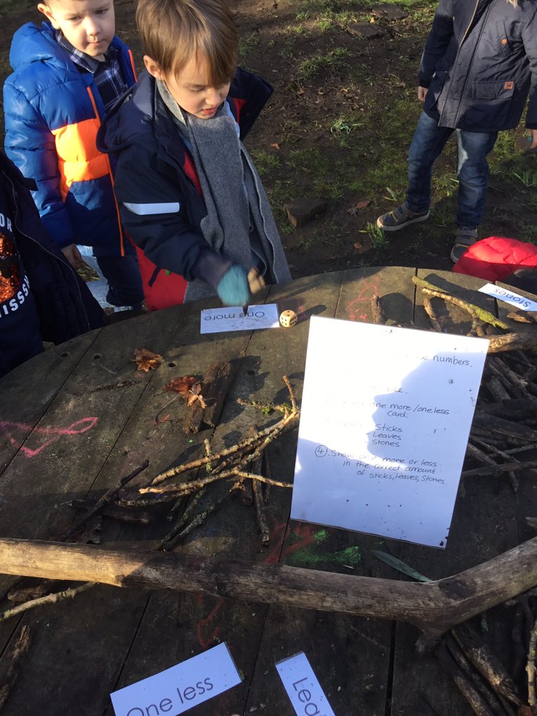 test Twitter Media - Showing one more and one less in lots of different ways, including using the natural resources in our learning area 🌱🍂🔢 #gorseymaths https://t.co/yLuQVnC8lp