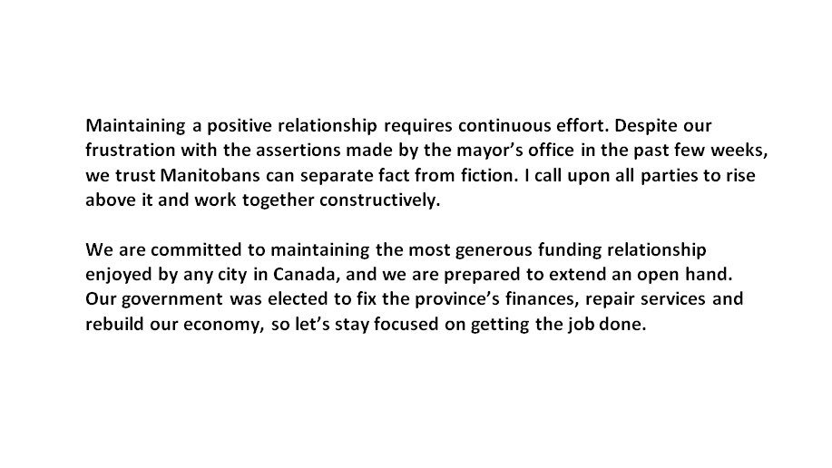 test Twitter Media - RT @Brian_Pallister: Read my statement below on city-province relations. #mbpoli #wpgpoli https://t.co/vtuYjyUpeP