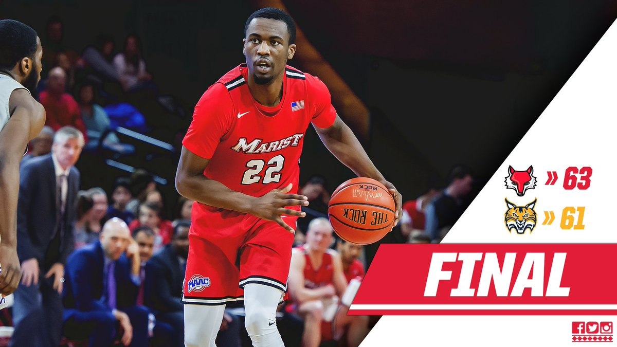 RT @MaristMBB: Victory!!!! A thriller at QU goes to the Red Foxes! #GoRedFoxes #maachoops https://t.co/Fwp4OiaWjT